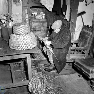 Country Crafts, Skep-making, Mr T. Featherstone, Farndale